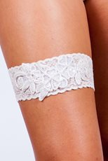Lace Multi Flower Garter
