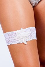 Lace Single Flower Garter