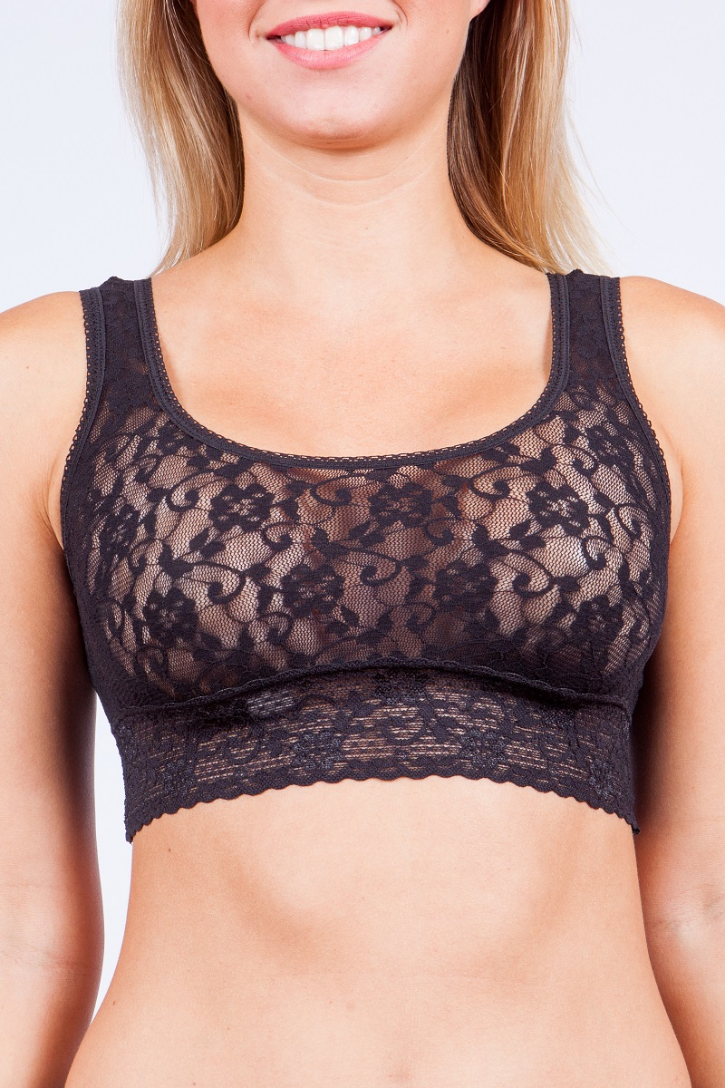Lace Scoop Neck Bralette