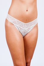 Bridal Lace Midrise Thong